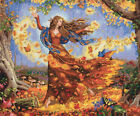Dimensions Gold Collection Fall Fairy Counted Cross Stitch Kit 14X12 14 Count