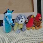 Lot of 4 - 2005 TY BEANIE BABIES of the Month SERENADE TRIDENT RAMBLE STUFFINGS