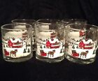 Vintage Libbey Winter Scape/ Scene Coffee Mugs Set Of 6 Excellent  Condition