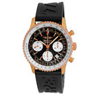 BREITLING 42mm 18K Rose Pink Gold Navitimer Chronograph R23322 Box Warranty