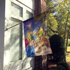 Christmas Nativity with Wise Men Flag Canvas House Size