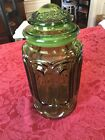 LE Smith Moon and Stars green Sugar Canister 9.5in tall (Please Read)
