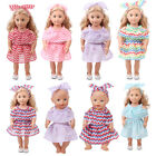 New Doll Outfits Wavy Dress Skirts Wedding Dress for 18'' Ameircan Girl Doll