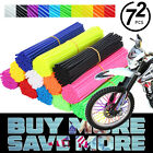 72x Universal Wheel Spoke Wraps Motorcycle Cover Pipe Skins Dirt Bike Protector