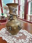 ANTIQUE CHINESE BRONZE/BRASS VASE WITH DRAGON DESIGN late 1800's