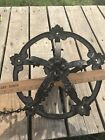 Antique Shabby Hanging Metal Light, Ceiling , Wrought Iron , Black , Ornate