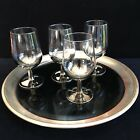 Cool Retro MCM Dorothy Thorpe Silver Fade Wine Glasses Set of 4