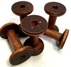 Vintage Wooden Silk Spools Bobbin Wood Quill Industrial Textile Mill Lot of 5