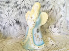 Fenton Glass Angel Hand Painted Signed by Artist
