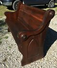 Beautiful Dark Wood Antique Church Pew Spindale NC 62