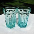 2 Anchor Hocking Fairfield Light Blue Glass 5-1/8