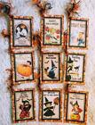Set of 9 Hang Tags Vintage Halloween Kids Gift Tags Scrapbook Cards Crafts 251