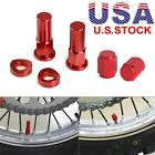 Valve Stem Cap Tire Wheel Rim Kit For Honda Suzuki Yamaha KTM Husqvarna Husberg