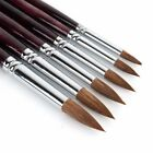 6 Pcs Set Sable Hair Round Artist Paints Brush Craft For Watercolor Oil Acrylic