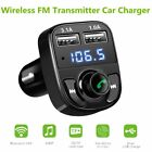 Bluetooth Car Kit MP3 Player FM Transmitter  Dual USB Charger For iPhone SamsunR
