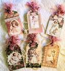 Set of 6 Hang Tags Vintage Mothers and Children Gift Tags Scrapbook Cards 5