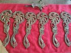 Vintage Red/Green  Cast Iron Flower and Leaves Brackets Antique