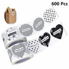 2 Rolls 600pcs Black and White Thank you Adhesive Labels Stickers Wafer Seals