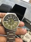 Fortis Automatic Watch 595.11.46.3 Black Green Stainless Steel VGC W/R 20BAR
