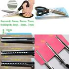 3mm Serrated Scissors For Fabric Sewing pinking shears Black sharp abs + steel