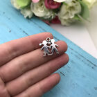 6pcs Boy And Girl Charm Tibet silver Charms Pendants DIY Jewellery Making crafts