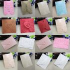 10PCS Personalized Lace Laser Cut Wedding Invitation Cards Party