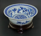 HUGE Antique 18th C Chinese Blue and White Porcelain Bowl Basin