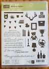 Stampin Up Bookcase Builder Retired Stamp Set new unmounted