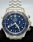 Omega Seamaster GMT Co-Axle Automatic Men's Watch 212.30.44.52.03.001 Pre-Owned.