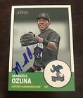MARCELL OZUNA SIGNED 2012 TOPPS HERITAGE MINORS CARD ST. LOUIS CARDINALS MARLINS