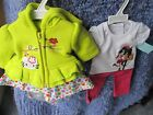"(2) New 18""Hnd Made American Grl Doll Outfits Hello Kitty Fleece/ Cowgirl Pink"