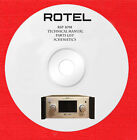 Rotel rsp-1098 technical manual schematics parts list on 1 cd in pdf format