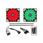 Game Max GM-CL200 RGB Kit with 2x Fans/2x LED Strips, Remote Control and Sa... .