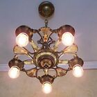 402b Vintage 20s 30s Ceiling Light lamp fixture art nouveau chandelier
