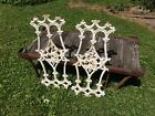 2 Vintage Ornate Wrought Iron Fragments ~ Architectural Salvage Shabby Chic 30