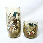 Vintage Set of 12 Anchor Hocking butterfly glasses 16 ounce/ 8 ounce tumblers