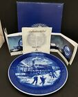 ROYAL COPENHAGEN CHRISTMS PLATE 1993 Christmas Guests Arrive 1st QUALITY TRAIN