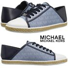 MICHAEL Michael Kors Kristy Slide Sneakers Womens Silver Casual Shoes Sport NIB