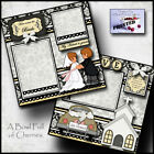 WEDDING 2 premade scrapbook pages paper piecing layout printed BRIDE Cherry