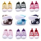 USA Toddler Kids Crib Shoes Baby Boys Girls Soft Sole Canvas Sneakers 0 12M