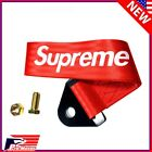High Strength Sports Racing Tow Strap Front Rear Bumper Towing Hook Red Supreme