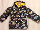 Hatley Boys Youths Raincoat Jacket Futuristic Rocket Cars Pattern Size 4
