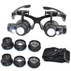 10 15 20 25X LED Eye Jeweler Watch Repair Magnifying Glasses Magnifier Loupe