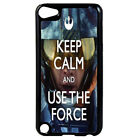 KEEP CALM use the force Star Wars Plastic Case for iPod 4th 5th 6th Gen D16