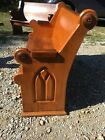 Nice Antique Ash Walnut Church Pew 48