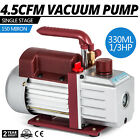 VEVOR 45 CFM Single Stage Rotary Vacuum Pump 128pounds 1 2ACME inlet AC 1 3HP