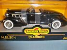 1935 AUBURN 851 Boat Tail Speedster Ertl 118 Scale Die Cast Model Car BLACK