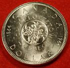 1964 CANADA DOLLAR UNC 80% SILVER GREAT COLLECTOR COIN GIFT CAD18