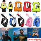 Kids Adults Snorkel Mask  Inflatable Life Vest for Snorkeling Surfing Swimming
