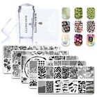 3pcs kit Nail Stamping Plate Clear Nails Stamper Scraper for Stamped Polish Gel